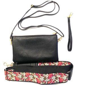 Handbags - Crossbody w/ Guitar Strap, Shoulder & Wristlet